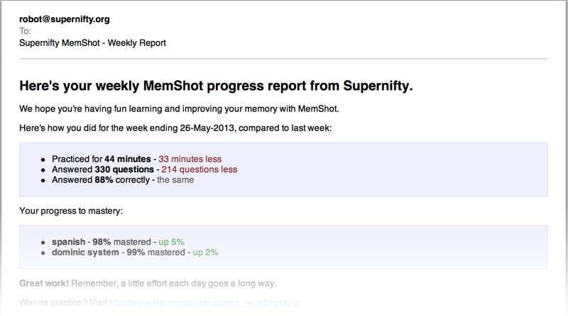 MemShot progress report
