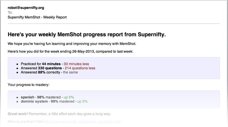 MemShot progress report
