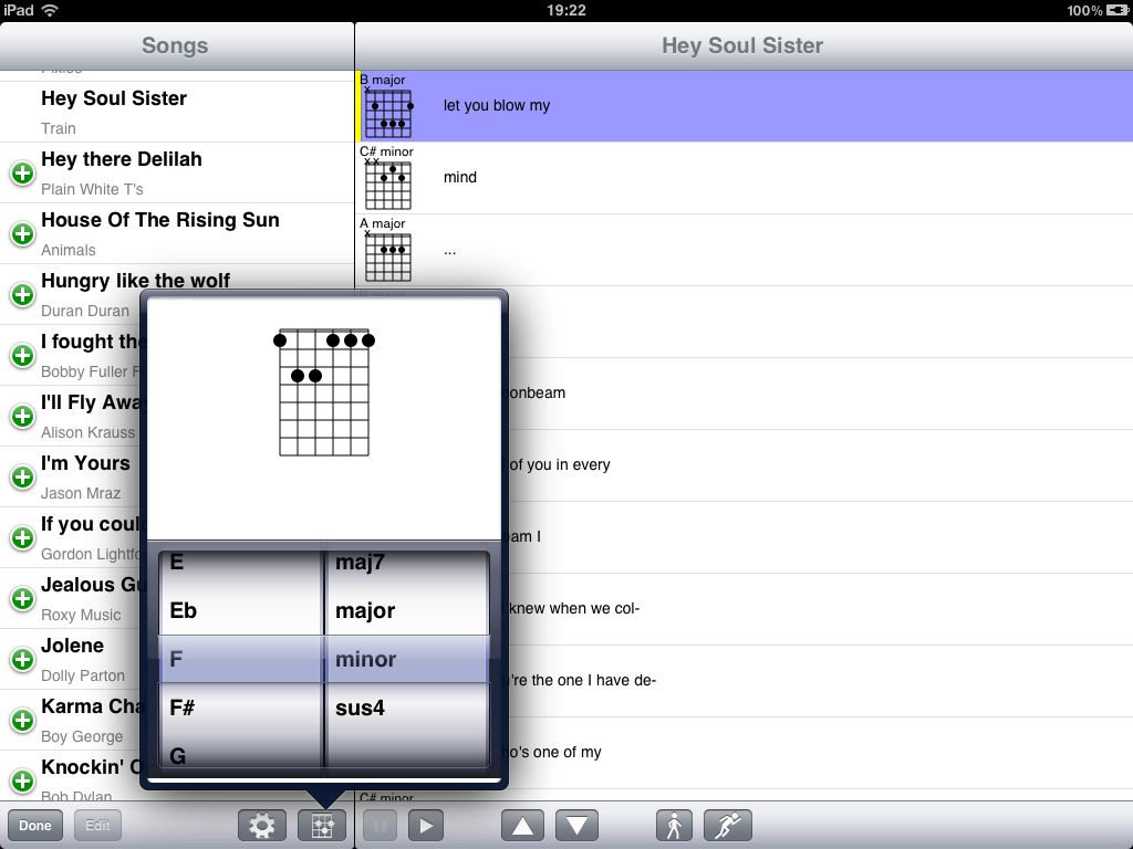 Playalong iPad screenshot