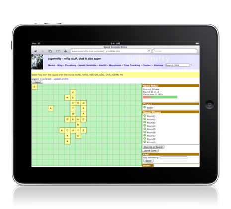 Speed Scrabble iPad